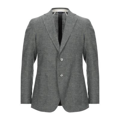 TOMBOLINI テーラードジャケット 鉛色 48 バージンウール 65% / コットン 27% / 麻 8% / レーヨン テーラードジャケット
