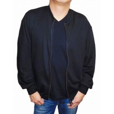 コムサイズム COMME CA ISM ジャケット MA-1 黒 47-68CI01 春物 ブラック 薄手