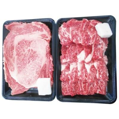 【送料無料】松阪牛 ロースステーキ&バラ焼肉セット RST34/BY40−MA【代引不可】【ギフト館】