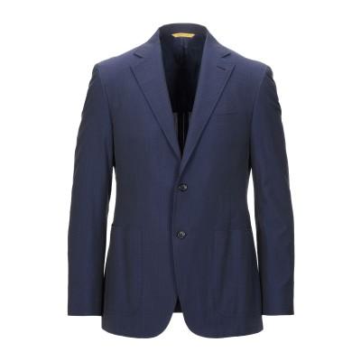 カナーリ CANALI テーラードジャケット ダークブルー 50 コットン 100% テーラードジャケット
