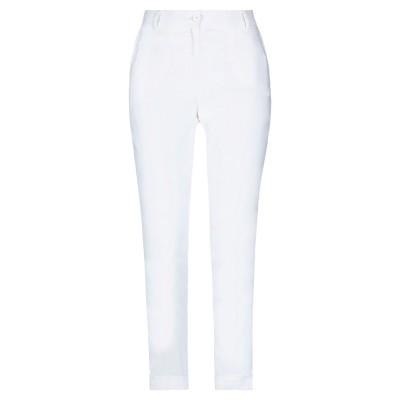 CRISTINAEFFE パンツ ホワイト 40 リネン 67% / レーヨン 30% / ポリウレタン 3% パンツ