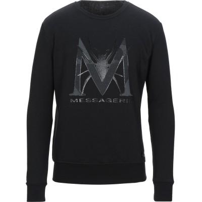 メッサジェリエ MESSAGERIE スウェットシャツ ブラック S コットン 100% スウェットシャツ
