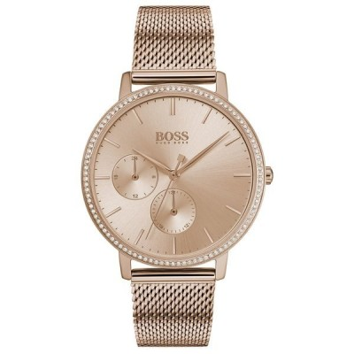 ボス 腕時計 アクセサリー レディース Women's Infinity Ultra Slim Rose Gold Ion-Plated Stainless Steel Mesh Bracelet Watch 35mm Rose Gold