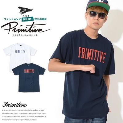 PRIMITIVE プリミティブ Tシャツ 半袖 ストレートロゴ センタープリント  セール