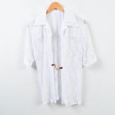 半袖 シースルーシャツ レディースM /wbd5805