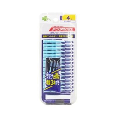 【ポイントボーナス】くらしリズム デンタルプロ 歯間ブラシ I字型 やや太タイプ 4 M 15本+3本×6個※取寄商品 返品不可