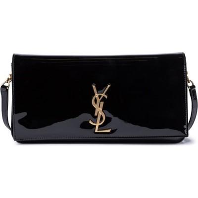 イヴ サンローラン Saint Laurent レディース ショルダーバッグ バッグ kate baguette small leather shoulder bag Noir