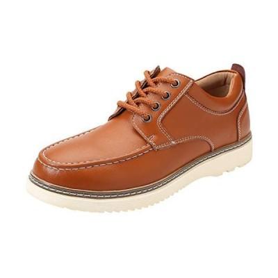 [NEARDREAM] デッキシューズ カジュアルシューズ メンズ 革靴 メンズシューズ カジュアル ワークシューズ 厚底 本革 レースアップ ウオー