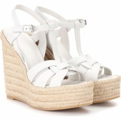 イヴ サンローラン Saint Laurent レディース エスパドリーユ ウェッジソール シューズ・靴 Tribute leather wedge espadrille sandals P