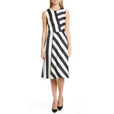 ボス レディース ワンピース トップス Dalta Striped Sleeveless Midi Dress OPEN MISC