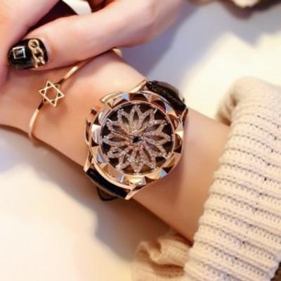 ★海外輸入品★高級 キラキラ CZダイヤモンド レディース 腕時計/ 黒 /ジュエリーウォッチ デザインウォッチ ドレスウォッチ ブリラミコ