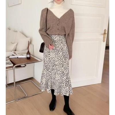 monodaily レディース スカート Milk Leopard Skirt