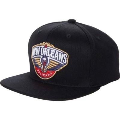 ミッチェル&ネス Mitchell & Ness レディース キャップ スナップバック 帽子 NBA Downtime Redline Snapback NBA Pelicans Black