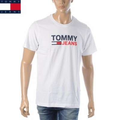 トミージーンズ TOMMY JEANS Tシャツ 半袖 クルーネック メンズ DM0DM10214 ホワイト 2021春夏新作