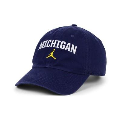 ジョーダン 帽子 アクセサリー メンズ Michigan Wolverines Heritage 86 Wordmark Swoosh Strapback Cap Navy