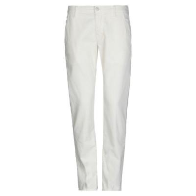 プラスピープル (+) PEOPLE パンツ ホワイト 32 コットン 98% / ポリウレタン 2% パンツ