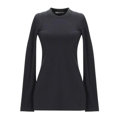 ワイスリー Y-3 T シャツ ブラック XS コットン 88% / ポリウレタン 12% / ポリエステル / ポリウレタン T シャツ