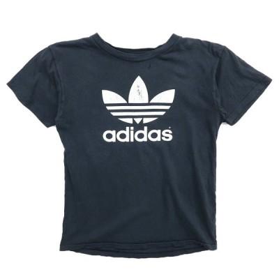 古着 80年代〜 USA製 アディダス adidas プリントTシャツ ブラック サイズ表記:L