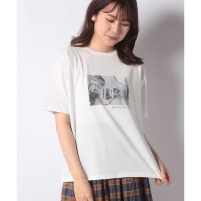 【テチチ】【Techichi】モノクロフォトTシャツ(town)
