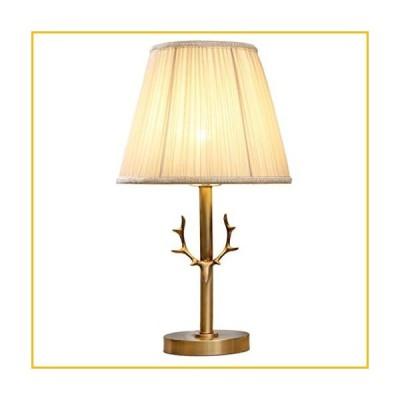 【☆送料無料☆新品・未使用品☆】Nightstand Lamp Pure Copper Table Lamp,Bedroom Bedside Lamp,Fabric Lampshade,Button Switch,D
