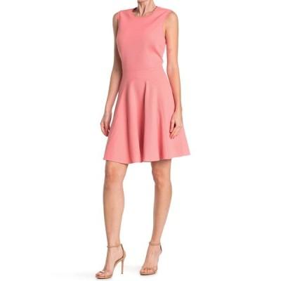 レベッカテイラー レディース ワンピース トップス Textured Fit & Flare Dress PINK GRAPE
