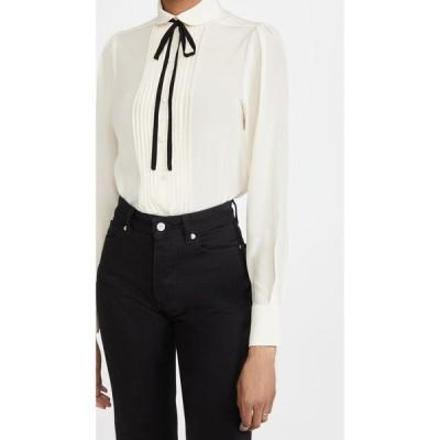 ヴィクトリア ベッカム Victoria Beckham レディース ブラウス・シャツ トップス Contrast Tie Detail Shirt Vanilla