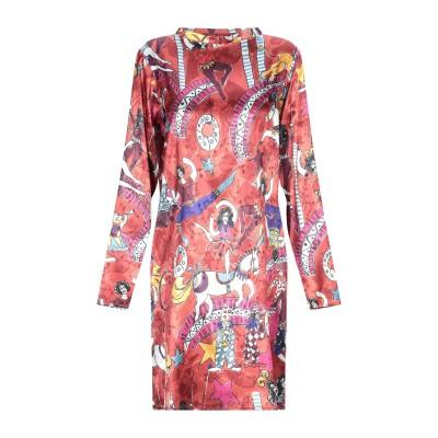 VIRNA DRÒ® ミニワンピース&ドレス 赤茶色 40 ポリエステル 100% ミニワンピース&ドレス