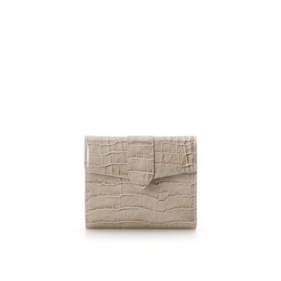 サマンサタバサ Samantha Thavasa シンプル 折財布 (グレージュ)