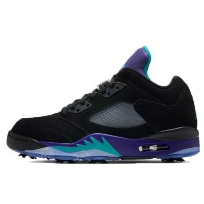 ナイキ エアジョーダン 5 ロー ゴルフ 25.5cm Nike Air Jordan 5 Low Golf Black Grape CU4523-001 安心の本物鑑定