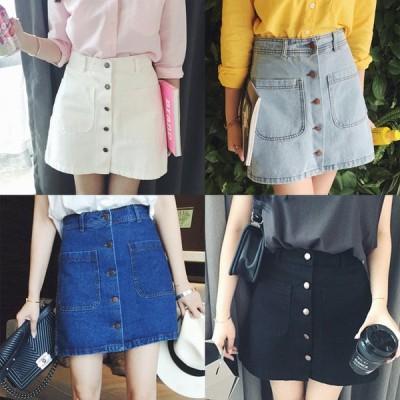 ミニスカート デニムスカート スカート ミニ丈 台形スカート Aライン 夏 可愛い 大人可愛い カジュアル 大人