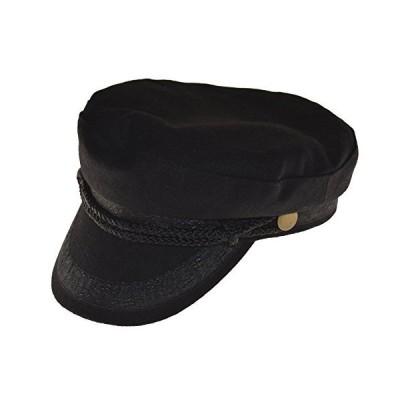 Broner Wool Blend Fisherman Cap Greek Sailor Hat Black Large【並行輸入品】