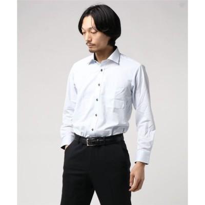 タカキューメンズ/TAKA-Q:MEN ノーアイロンストレッチ無地ワイドカラービジネスドレス長袖ニットシャツ