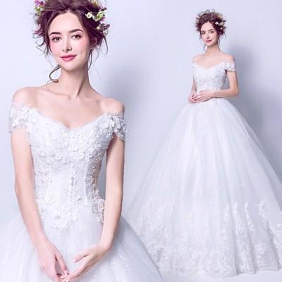 ウェディングドレス 二次会 安い ウエディングドレス 結婚式 エンパイア 花嫁 ドレス 白 披露宴 ロングドレス ブライダル プリンセス 大きいサイズ