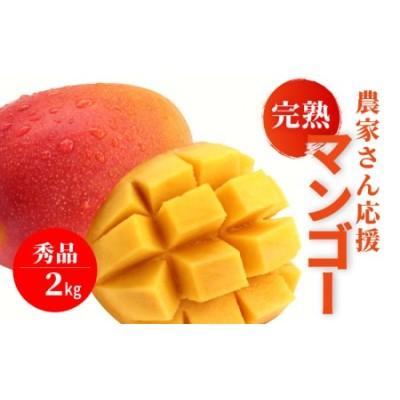 農家さん応援 完熟マンゴー《秀品2Kg / 3~6玉》【2022年7月発送】