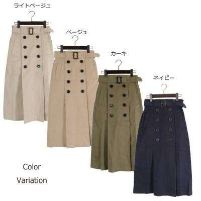 ベルト付きタックトレンチスカート