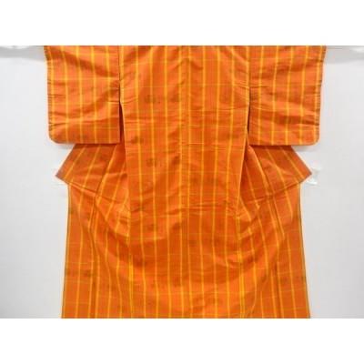 宗sou 時代道具に富士模様織り出し米沢紬着物アンサンブル【リサイクル】【着】
