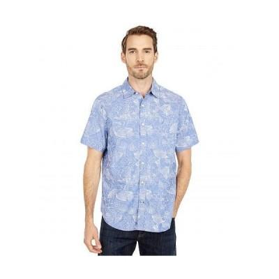 Nautica ナウチカ メンズ 男性用 ファッション ボタンシャツ Oxford Print Sportshirt - Blue