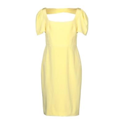 REBECCA VALLANCE ミニワンピース&ドレス イエロー 6 レーヨン 65% / レーヨン 35% ミニワンピース&ドレス