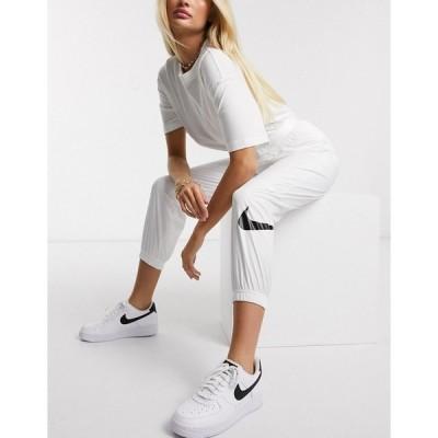 ナイキ レディース カジュアルパンツ ボトムス Nike woven swoosh cargo pants with belt in off white White/black