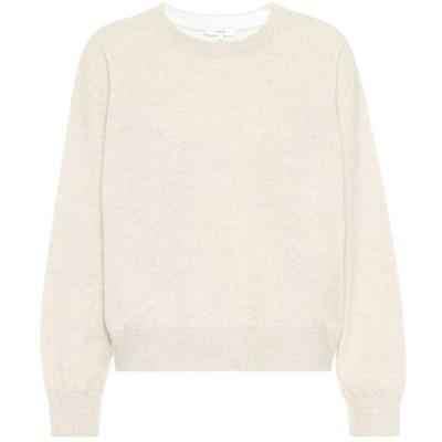ヴィンス Vince レディース ニット・セーター トップス Cashmere sweater Biscuit/Optic White