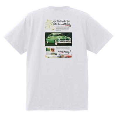 アドバタイジング マーキュリーTシャツ 白 1267 黒地へ変更可 レトロ 1950 1949 レッドスレッド ローライダー ロカビリー モナーク