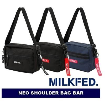 MILKFED.(ミルクフェド) NEO SHOULDER BAG BAR 03182097 ショルダーバッグ レジャー 旅行 フェス ブラック レッド ネイビー レディース 新品 【正規販売店】