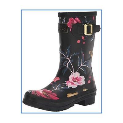 【新品】Joules Women's Molly Welly Rain Boot, Black Floral 1, 5【並行輸入品】