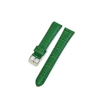 【新品・送料無料】CASSIS[カシス] カーフ 型押し 時計ベルト 裏面防水素材 AVALLON アバロン 19mm グリーン 交換用工具付き X1022238075