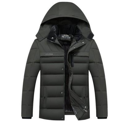 ダウンコート フード付き 冬 コート 暖かい 冬ジャケット カジュアル メンズ オーバーコート