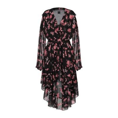 ピンコ PINKO ミニワンピース&ドレス ブラック 38 レーヨン 100% / ナイロン / ゴム ミニワンピース&ドレス
