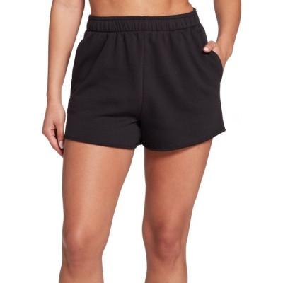 DSG レディース ショートパンツ ボトムス・パンツ Boyfriend Fleece Shorts Pure Black