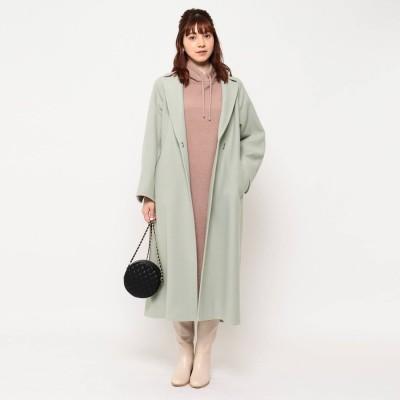 クチュール ブローチ Couture brooch ライトメルトンジャージラップコート (ライトグリーン)