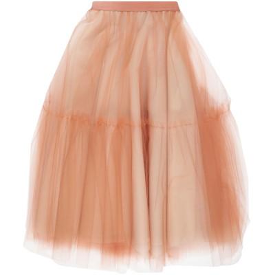 インペリアル IMPERIAL 7分丈スカート ブラウン XS ポリイミド 100% 7分丈スカート