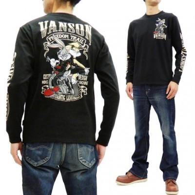 バンソン バッグスバニー ローラバニー 長袖Tシャツ VANSON 刺繍 ロンT タンデムデザイン LTV-925 ブラック 新品
